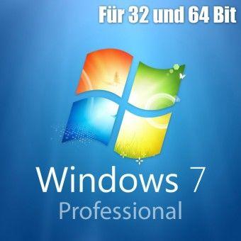 Windows 7 Professional Aktivierungsschlüssel für 32 / 64 Bit - Download / ESD