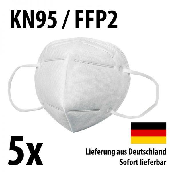 Atemschutzmasken KN95 / FFP2 - Schutzmasken Mundschutz - 5er-Set