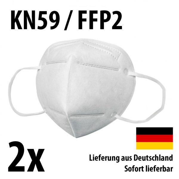 Atemschutzmasken KN95 / FFP2 - Schutzmasken Mundschutz - 2er-Set
